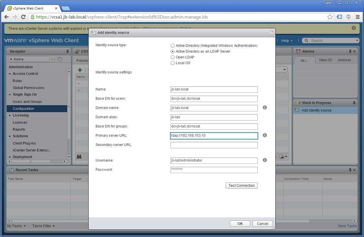 VMware vCenter Server and Active Directory - JohnBorhek com