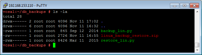 Backing up and restoring the vCenter Server Appliance 6 database