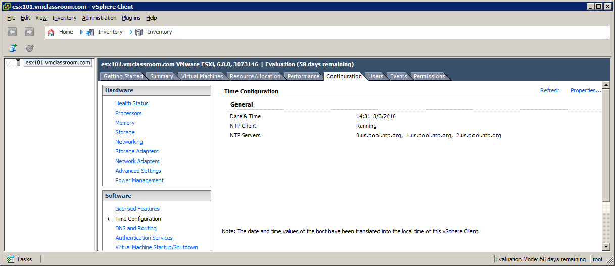 Timekeeping on ESXi