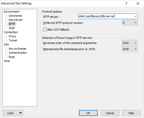 Using WinSCP with the VMware vCenter Server Appliance