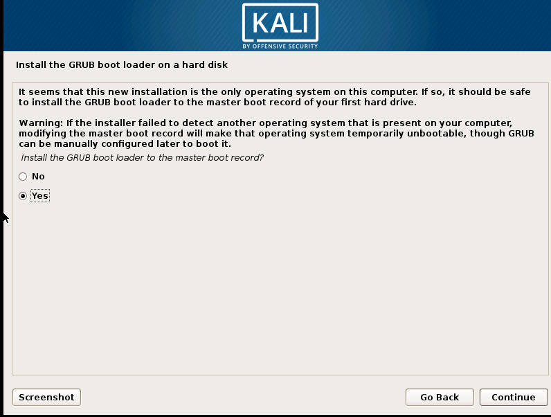 Kali Linux Virtual Appliance OVA